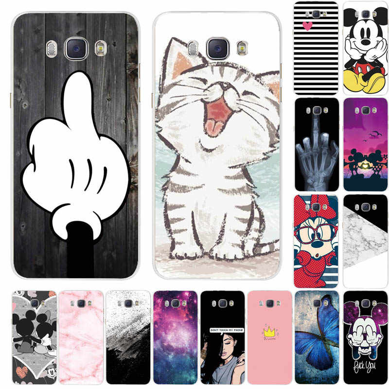 Phone Case For Samsung Galaxy J5 2016 Case J510F Cover Painted Silicone TPU Case For Coque Samsung J3 J5 J7 2016 Case