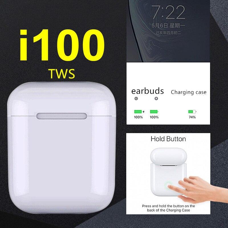 i100 TWS 1 1 sensor mini Pop up w1 h1 chip Bluetooth Wireless Bluetooth earbuds pk