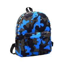 New Fashion Backpack Children School Bag Rivets Camouflage Backpack Women Rucksack Cute Baby Toddler Casual Mochila(China)