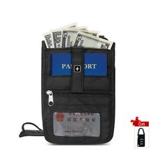 Paszport portfel Travel portfel mężczyźni Neck etui Travel dokumenty Reizen Seyahat Pass Holder Akcesoria podróżne bezpieczeństwo SA9731 tanie tanio 19 5 cm 13cm OSOCE Portfele paszportowe 0 5 cm Poliester Stałe 0 08 kg