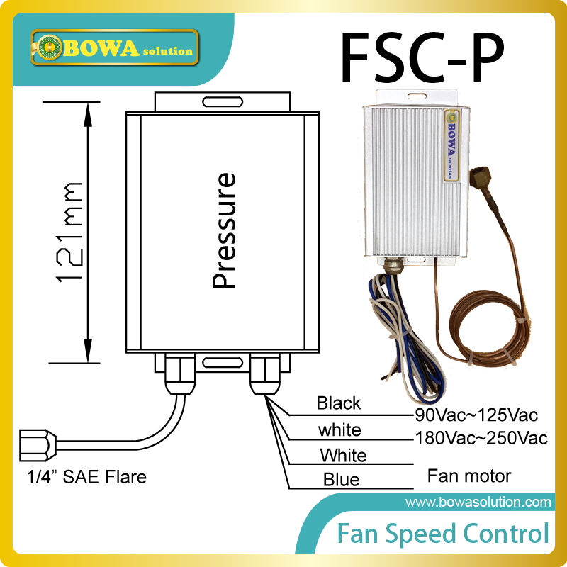 Condenser fan speed controller drived by pressure in different refrigeration and air conditioning units replace Saginomiya refrigeration and air conditioning condenser cooling fan radiator cold ocean outer rotor motor ywf 4d 250 60w
