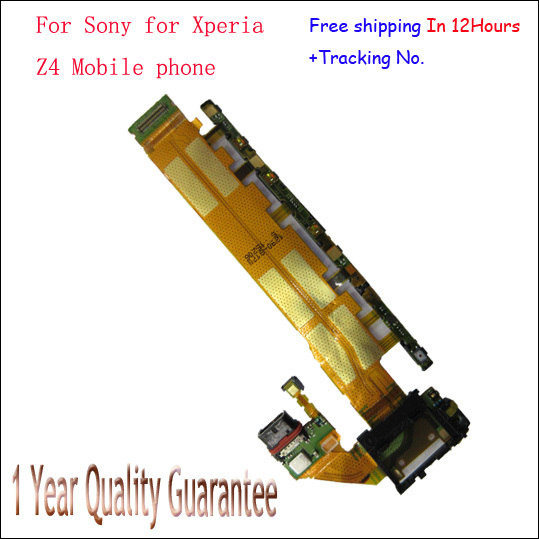 Original For Sony Dual or Single Z4 Z3+ mic charging port Power volume camera side button keypad main Flex Cable with tracking