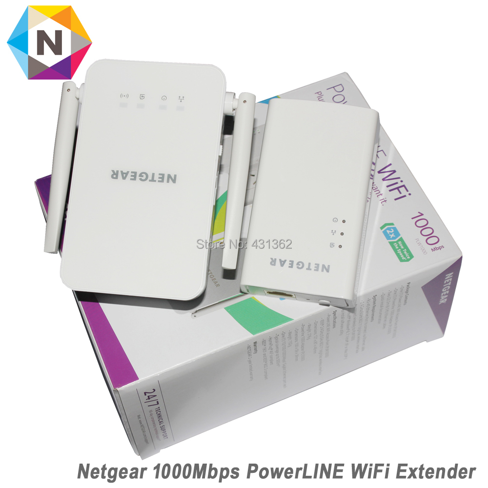 цена на Netgear PowerLINE PLW1000 Bridge 802.11B/G/N/AC Wall Pluggable With Netgear PowerLINE 1000 Adapter