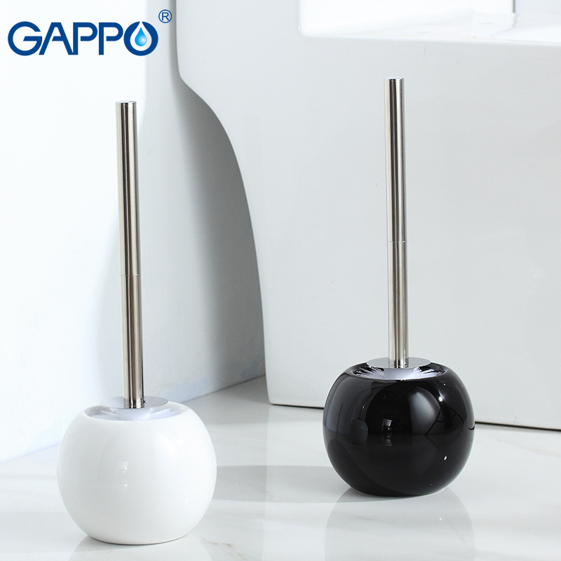 GAPPO Toilet Brush Holders porcelain toilet brush bathroom accesories black/white toilet brush sets bathroom hardware           GAPPO Toilet Brush Holders porcelain toilet brush bathroom accesories black/white toilet brush sets bathroom hardware