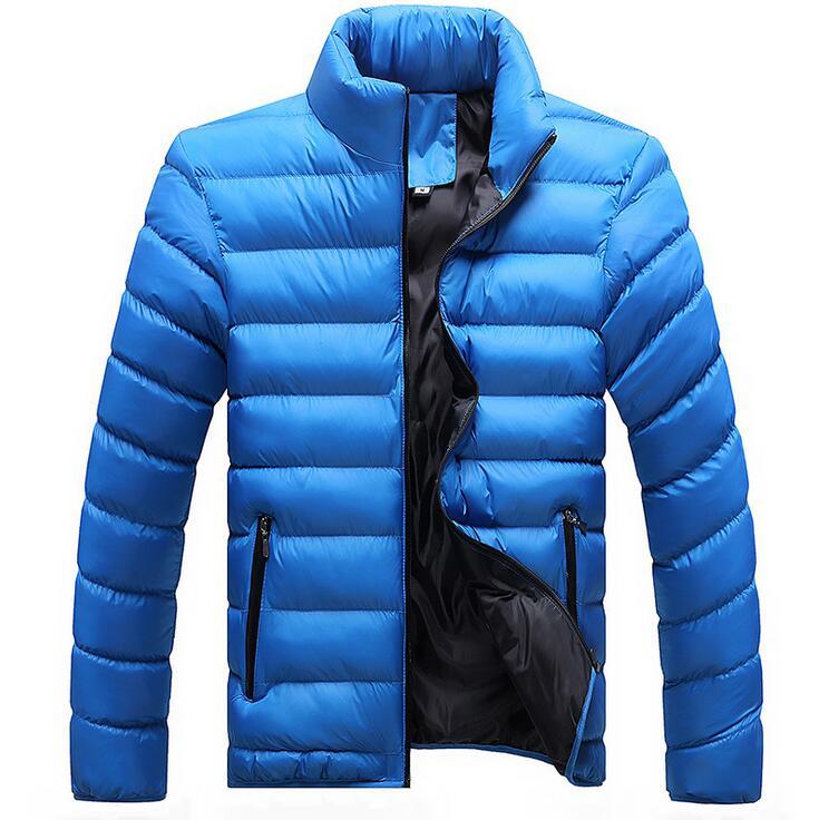 Kış Ceketler Erkek 2019 Yeni Şık Slim Spor Kapitone Uzun Kollu - Erkek Giyim - Fotoğraf 5