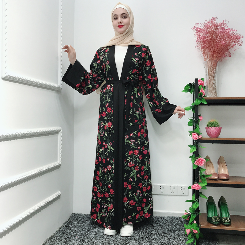 Men/'s Muslim Islamic Abaya Dress Arab Kaftan Dubai Turkish Dress Cardigan Coat