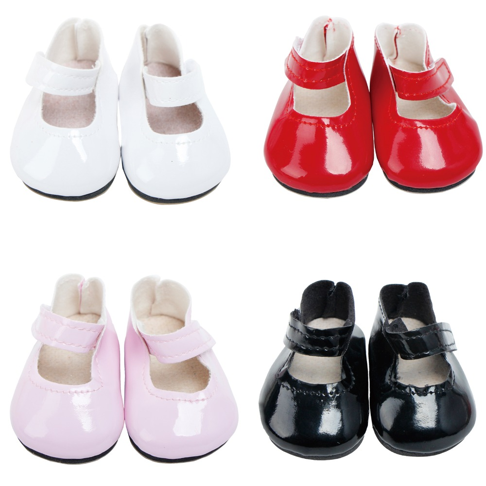 Lovely Bowknot Shoes for American 18inch Doll Dress up Accessories Pink