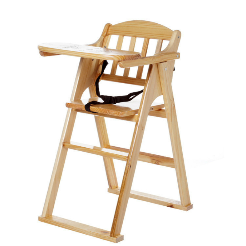 Practical Kids Dining Chair Simple Wooden Household Foldable Baby Stool Restaurant Multi-function Drop Resistance Infant Chair