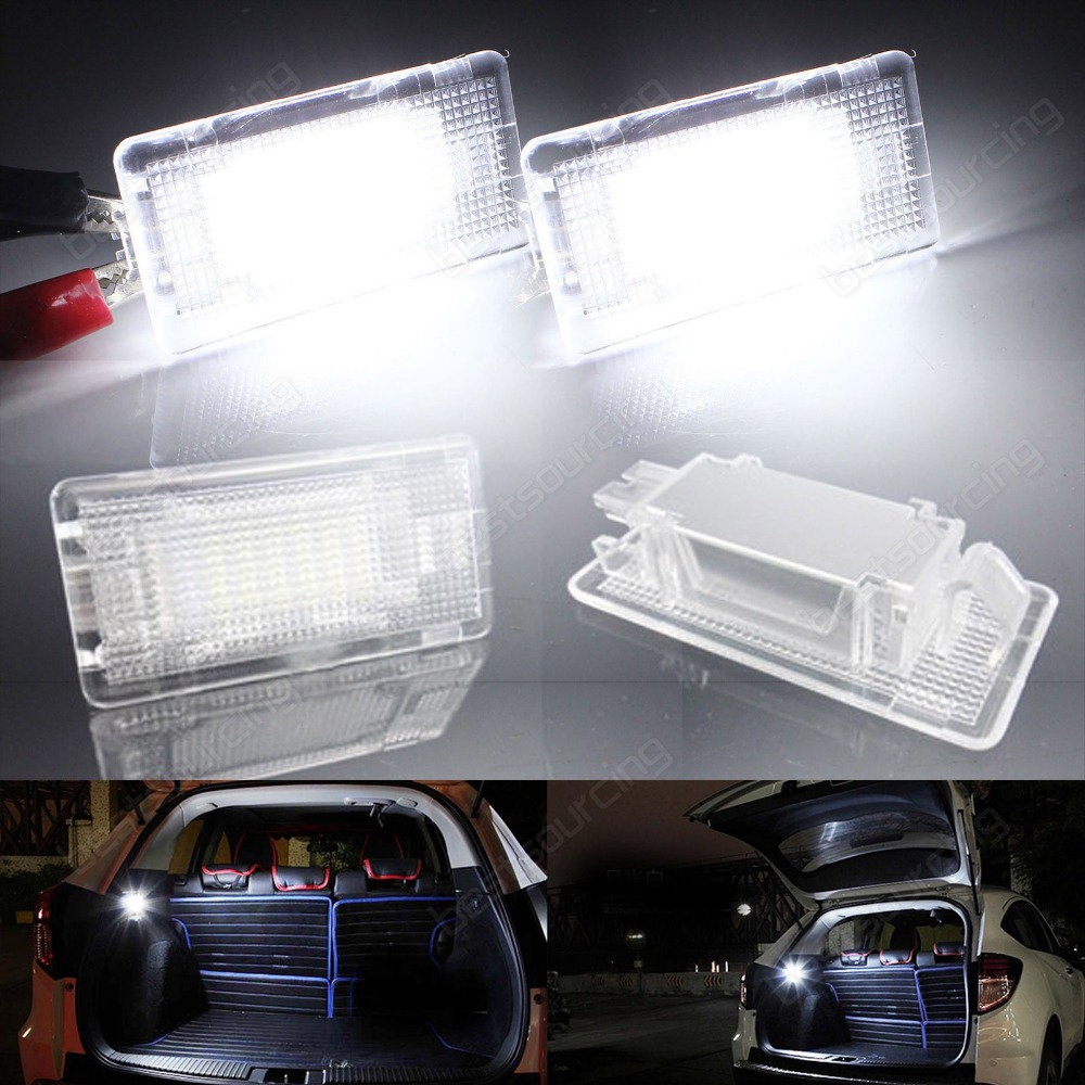 2x LED Footwell Luggage Trunk Boot Light E36 E38 E39 E46  E60 E61 E65 E66 F01 F02(CA201) for volkswagen passat b6 b7 b8 led interior boot trunk luggage compartment light bulb