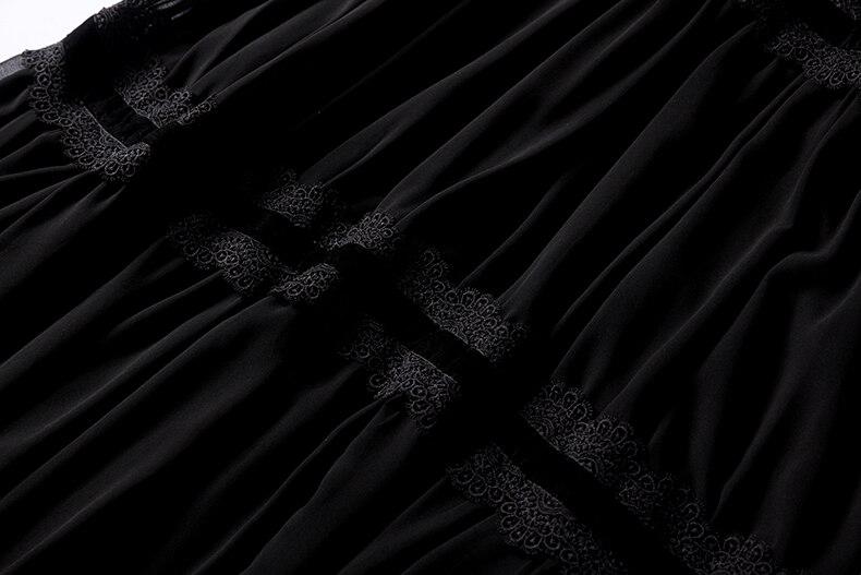 موضة الدانتيل مخفض أسود 10