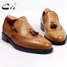 Cie/мужские туфли с круглым носком на заказ; Мужские модельные туфли ручной работы из натуральной кожи; повседневные Лоферы без застежки с кисточками; Цвет Черный; лоферы; 92