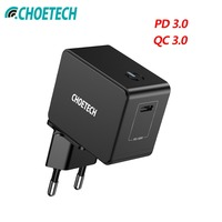CHOETECH 18W USB PD Charger Type C Mobile Phone 18W Wall Chargers For iPad Pro Samsung Galaxy S8 Huawei Mate 10 For iPhone X 8
