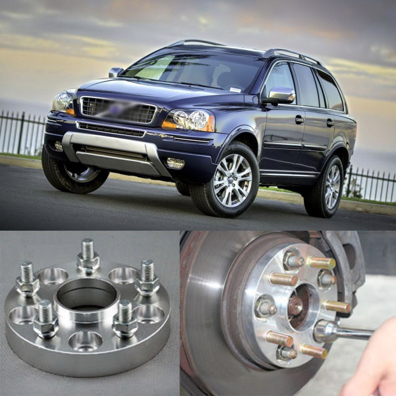 Teeze 4pcs Billet 5 Lug 14*1.5 Studs Wheel Spacers Adapters For Volvo XC90 2004-2014 2 pieces of specialized in the production of wheel adapters wheel spacers 4 x100 suitable for toyota corolla vios and yaris