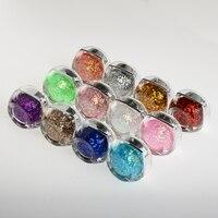 12 renkler/set 8 ml Tırnak Sanat Parlayan Glitter Sequins Yıldızlı Platin Boya UV Jel Aracı Uzun Ömürlü Jel