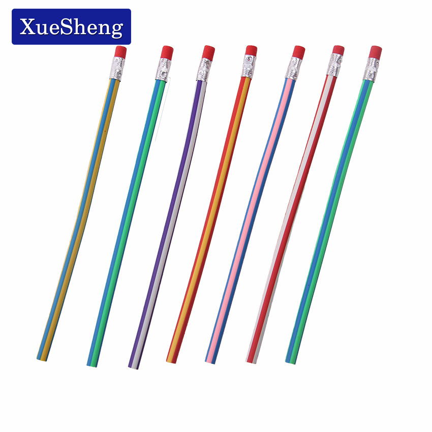 5PCS Colorful Magic Bendy Flexible Soft Pencil With Eraser For Kids Writing Gift in Standard Pencils from Office School Supplies
