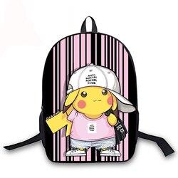 Śliczne PIKACHU 16 Cal Plecak Szkolny nastolatek plecaki szkolne torby Unisex Plecak studentów Mochila Bagpack Escolares Sac Dos 1