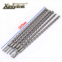 Xintylink Chrome Steel Percussion Drill Bit Cement Drill Hole Saw Wall Drill Square Shank For Building