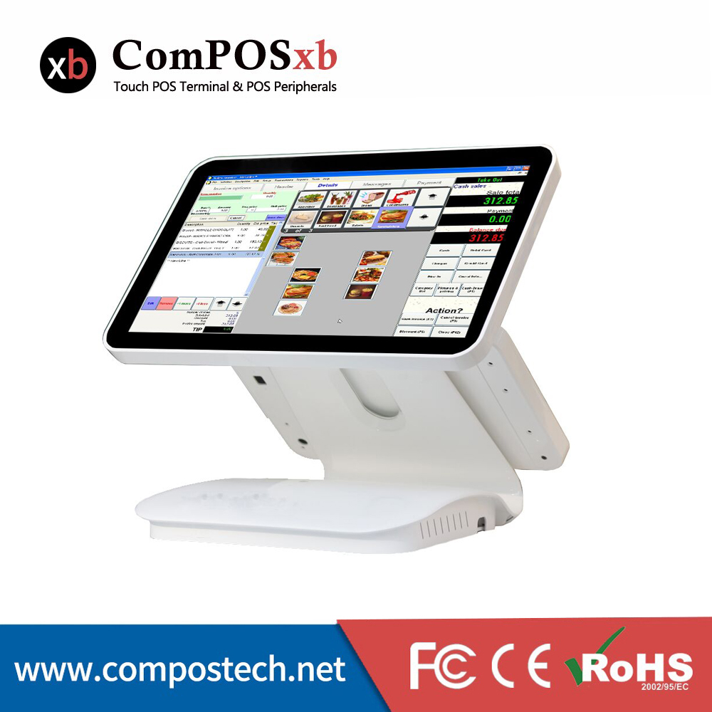 15.6 inch dual capacitive touch screen//touch pos all in one//pos terminal linux pos1519D dual touch v102