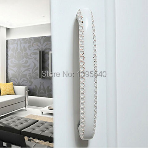 New 96mm Cabinet Wardrobe Handle Ivory White Closet Drawer Handles Euro-Style Bedroom Furniture Door Sample Knobs Shoesbox Pulls