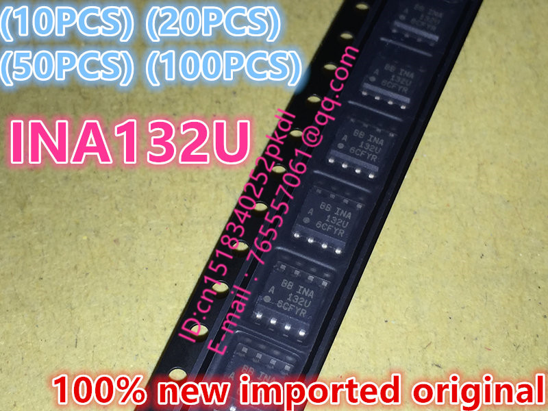 (10PCS) (20PCS) (50PCS) (100PCS) 100% new imported original INA132U SOP-8 amplifier 10pcs 20pcs 50pcs 100pcs 100% new original adum1402crwz rl adum1402crwz adum1402 sop16 digital isolator chip