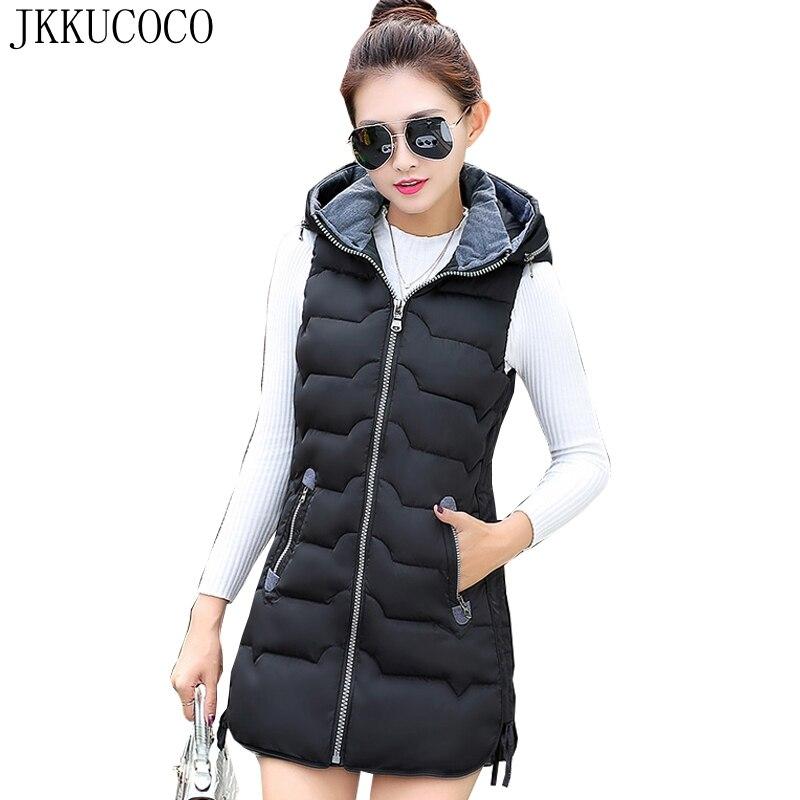 JKKUCOCO 防風暖かいだけでなく冬上着ジッパー付きベスト女性コート高品質の綿のベスト 6 色 L 5XL  グループ上の レディース衣服 からの ベスト & チョッキ の中 1