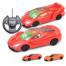 4 Channels 22cm RC Car Toy Led Light Electric Robot Sports Car Models Toys Birthday Gifts for Boys AAA Battery(China)
