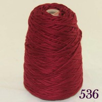 1X400g Soft Sell High Quality 100 Cotton Hand Woven Yarn Ruby Cone 422 536
