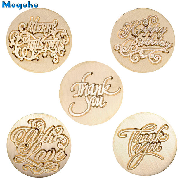Mogoko 1x Wax Seal Stamp Retro Wood Classic Decorative Merry Christmas Happy Birthday Invitation Antique Sealing Stamp Valentine 4
