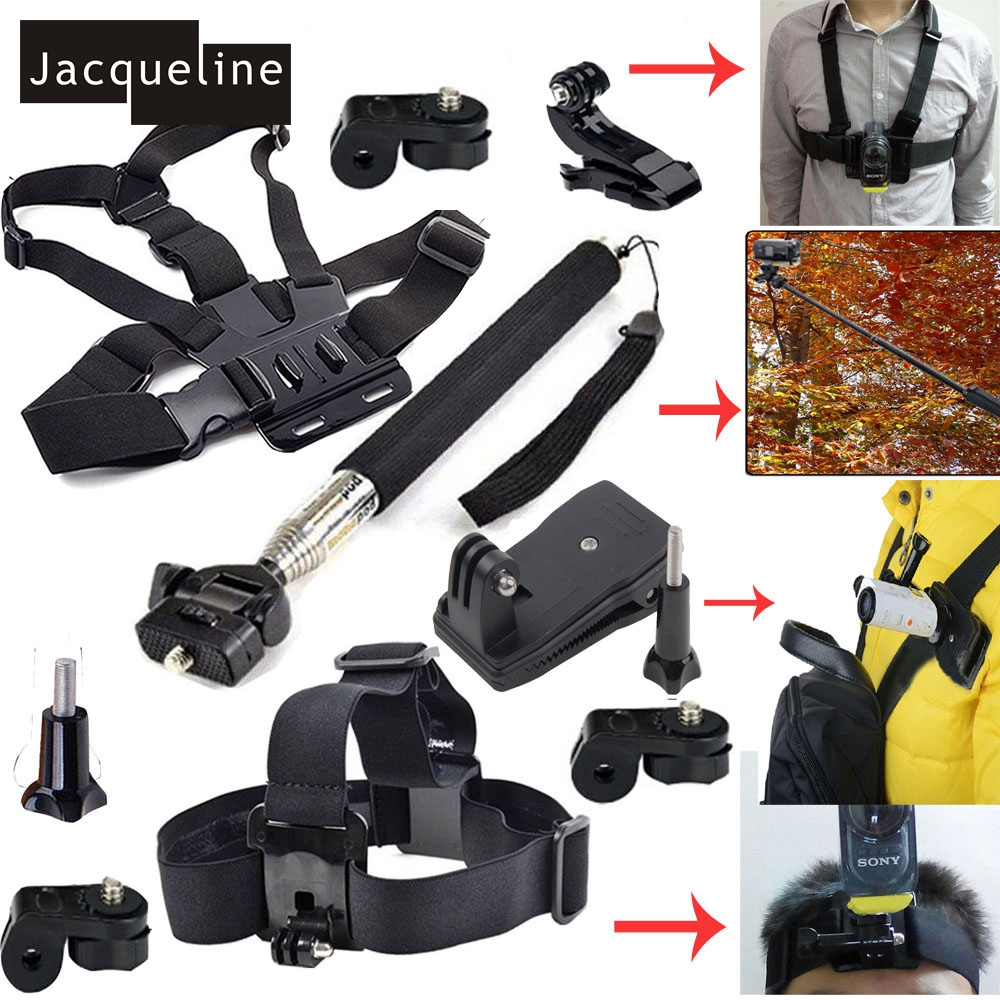 Kit Accessories Chest Strap Head Monopod Clip Mount For Sony Action Cam FDR X1000V W 4K