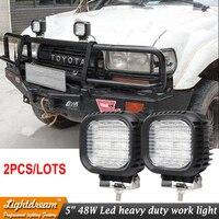 Suv 4x4 Offroad 48W Led Work Light For Truck 12V 24V 4x4 Driving Lights Spotlights Flood