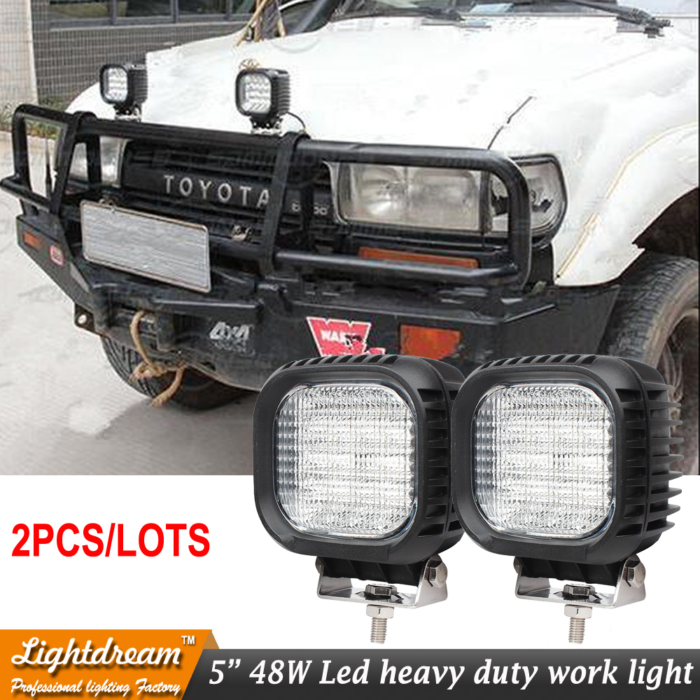 2pcs 48W led work lightS for Suv 4x4 car suv truck Car 12V 24V 4x4 Driving Spot Beam Flood beam lights tractor offroad lights xuanba 4d 120w led work light bar 180 spot flood combo beam for 4x4 offroad atv suv tractor truck 12v 240w driving barr lights