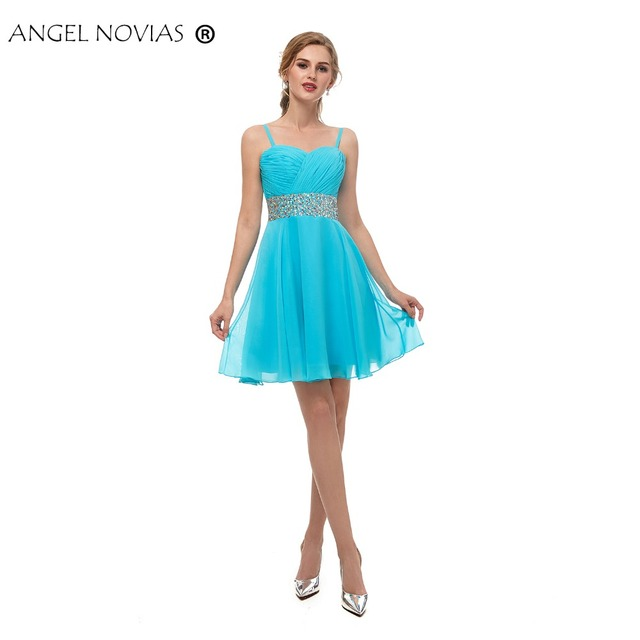 7d05fff55c US $67.5 10% OFF|Angel Novias Hunter Green Homecoming Dress 2018 with  Straps Short Party Dress Graduation 2018 Vestidos De Festa Curto-in  Homecoming ...