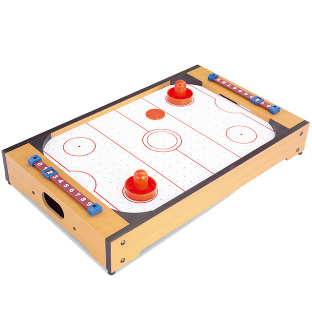 Mini Air Hockey 20inch Table Top For Kids Sports Wooden Color