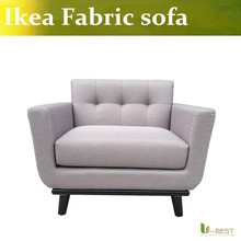 U BEST comfortable fabric armchair Fabric Living Room chaise lounge Upholstery fabric and Solid Wood Legs