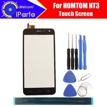 5.0 pouce HOMTOM HT3 Digitizer Écran Tactile Panneau 100% Garantie D'origine Panneau de Verre Tactile Remplacement de Verre de L'écran Pour HT3