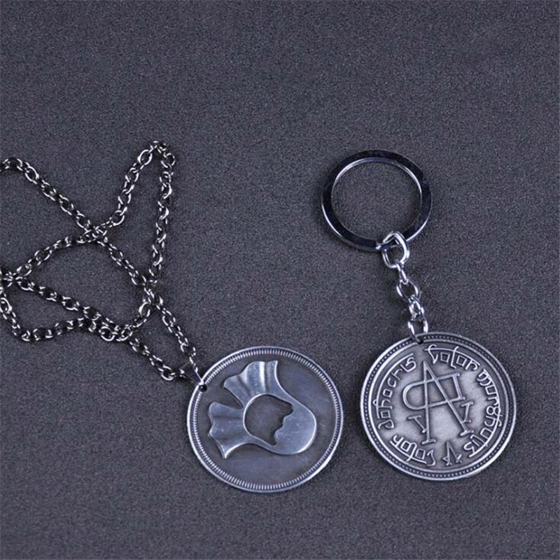 Hot New Game Of Thrones Necklace A Song Of Ice And Fire Faceless Coin Valar Morghulis Jaqen H'ghar Aaliyah Badge Key Chain Gift