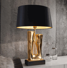American Simple Rose Gold Art Resin Table Lamp Luxury metal golden desk lamps for bedroom Living Room bedside lash lamp table пилки д лобзика по дереву kwb t 101 b 2шт