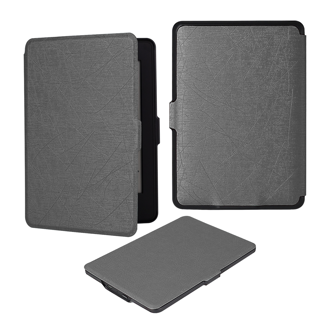 GOOJODOQ SmartShell Case for All-New Kindle Paperwhite 1 2 3 6 PU Leather Cover Auto Sleep/Wake Fits All Versions pu leather ebook case for kindle paperwhite paper white 1 2 3 2015 ultra slim hard shell flip cover crazy horse lines wake sleep