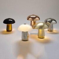 Nordic пост современный простой современный Утюг искусство лампа творческий спальня исследование кофе магазин прекрасный гриб настольная ла
