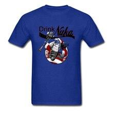 цена Drink Nuka T-shirt 2019 Fallout 4 T Shirt Men Santa Claus Print Tshirt Cotton Black Tees Fallout New Vegas Gamer Streetwear XXXL онлайн в 2017 году