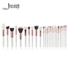 Джессап жемчужно-белый/розовое золото Профессиональные кисти для макияжа Кисти для макияжа Brush инструменты комплект Фонд комплект порошок краснеет Красота