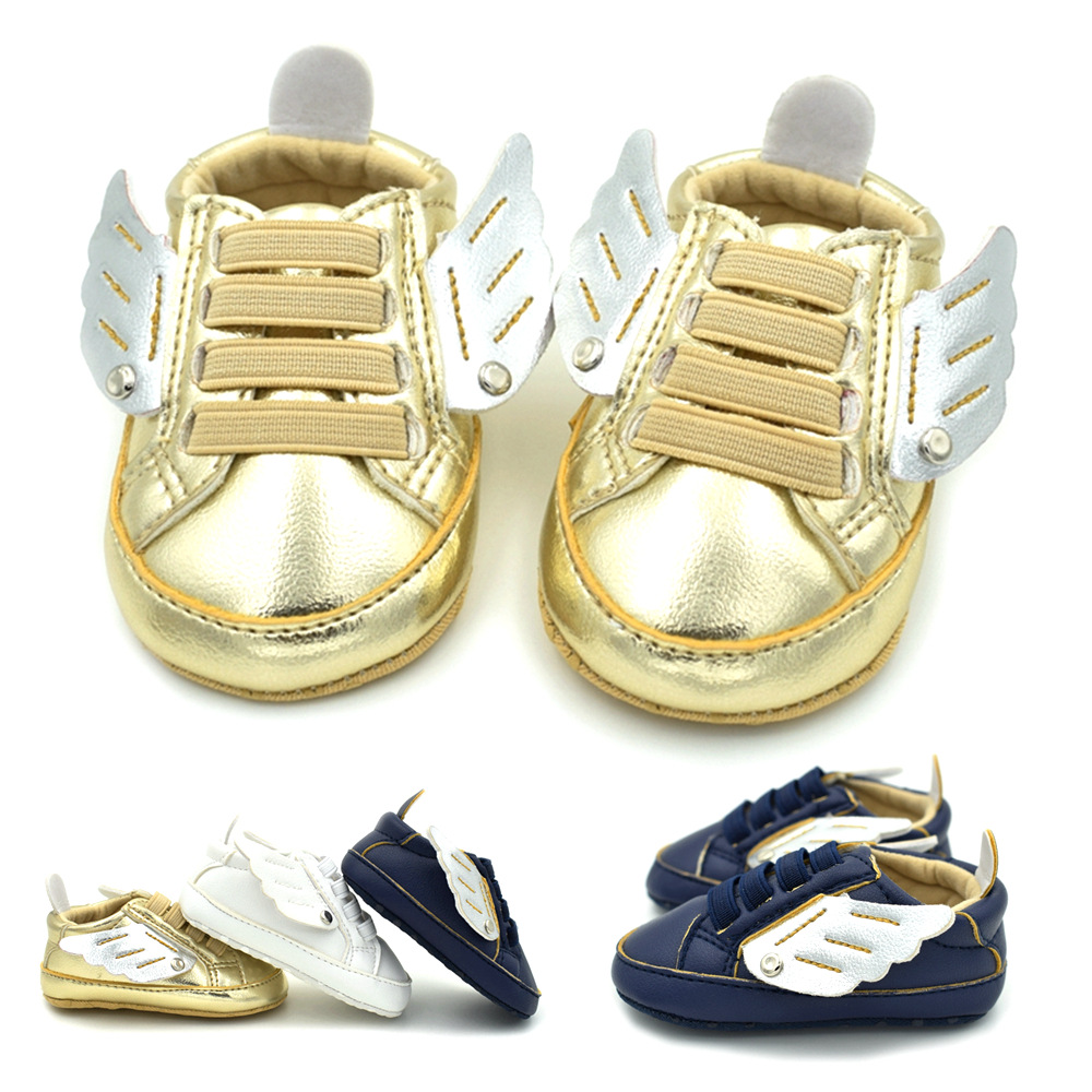 2018 new boys girls low wing wings soft bottom baby shoes