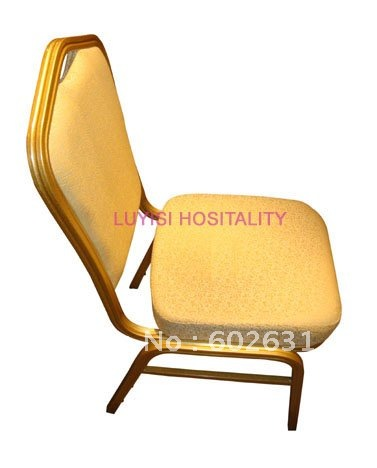 Gold Finish Painted Aluminum Frame Stackable Banquet Chair