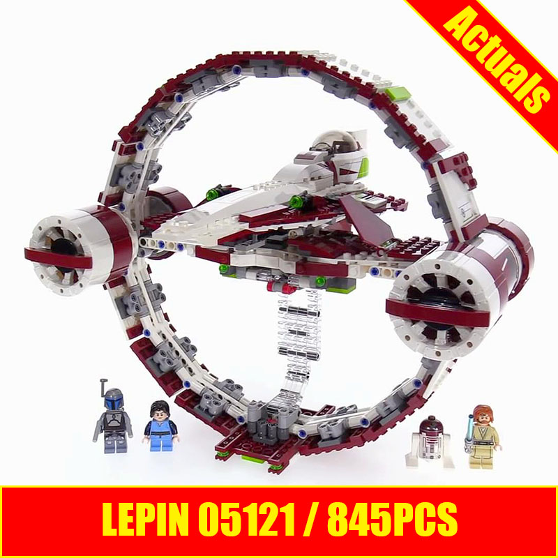 LEPIN 05121 845Pcs Star War Series The Jedi Starfighter With Hyperdrive Set Educational Building Blocks Bricks