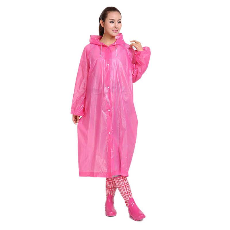 Модный женский плащ EVA, утолщенный, водонепроницаемый, дождевик для женщин, прозрачный, для кемпинга, водонепроницаемый, дождевик, костюм, Прямая поставка