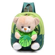 Kindergarten Baby Cartoon Bear School Bags Kids Applique Plush Toy Backpacks Mini Toddler Book Backpack Bag