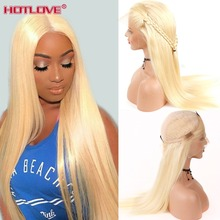 613 Honey Blonde Lace Front Human Hair Wigs Brazilian Straight 13x4 Remy 150% Density Wig