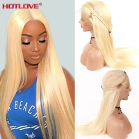 613 Honey Blonde Lace Front Human Hair Wigs Remy 150% Density Brazilian Straight Hair 13x4 Lace Frontal Wigs 613 Blonde Hair Wig
