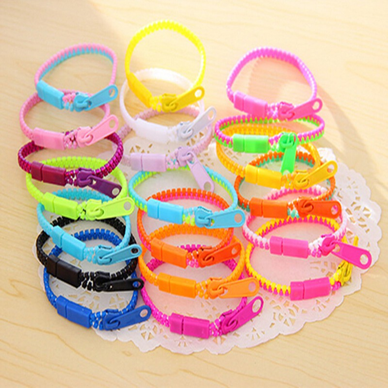 10pcs Zipper Bracelet Fidget Products Toy Stress Relief Kids Toys