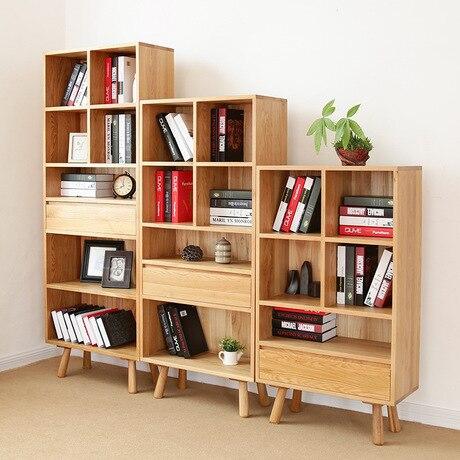 boekenkasten woonkamer meubels meubelen massief eiken hout